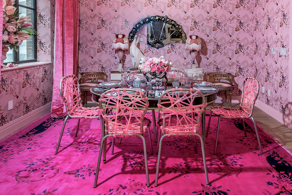 Pink overload for this #holidayhousesoho by Sasha Bikoff