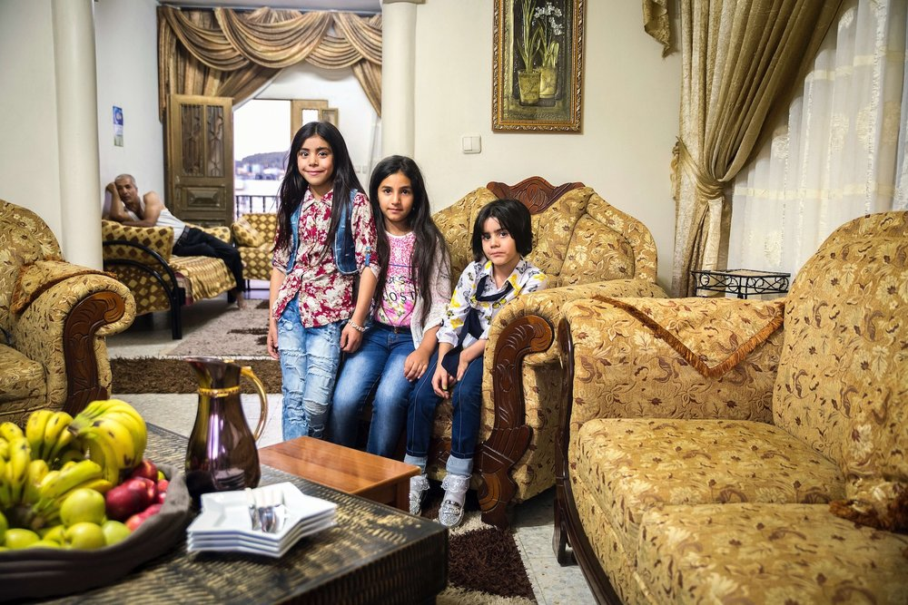 Palestinian Girls in Bethlehem Home