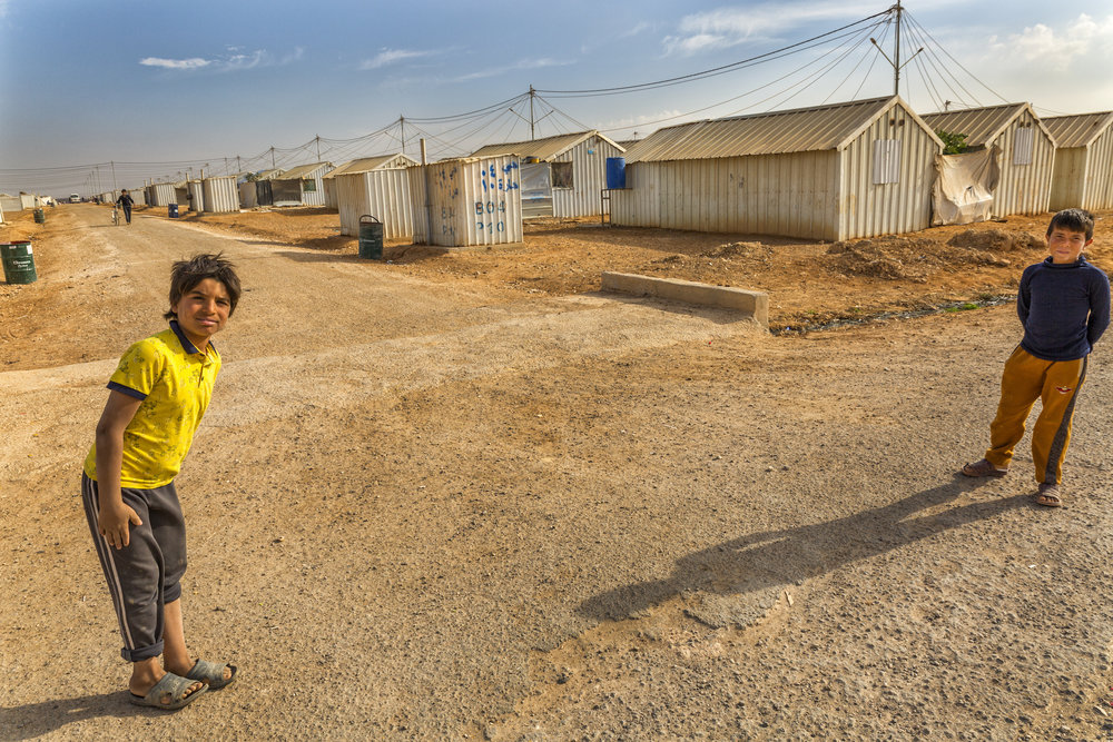 Two Syrian Boys in Azraq Camp
