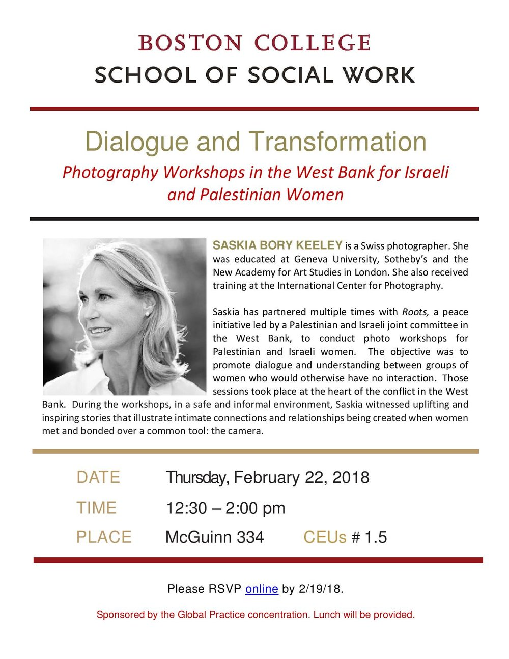 Dialogue and Transformation: Photography Workshops for Israeli and Palestinian Women in the West Bank  - Boston College