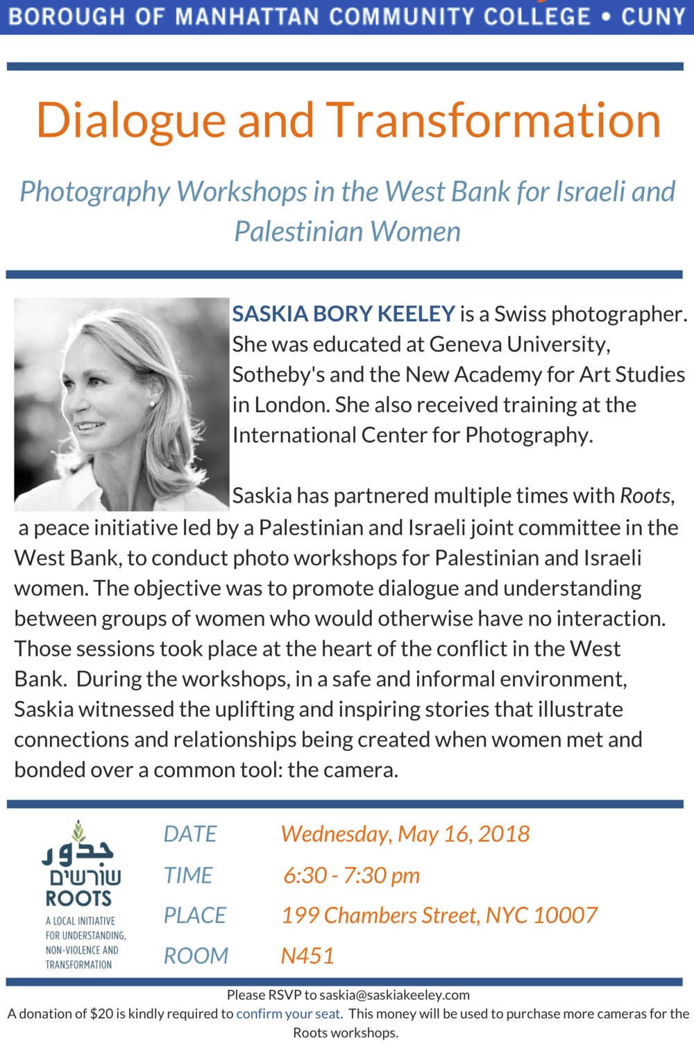 Dialogue and Transformation: Photography Workshops in the West Bank for Israeli and Palestinian Women - Borough of Manhattan Community College | CUNY