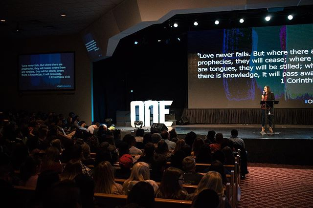 Main sessions have been incredible. Great teaching form our leaders. #oneencampus