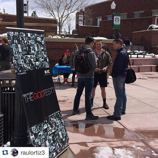 #Repost @raulortiz3 with @repostapp. ・・・ Here we go! First time with our @enc_na crew at U of Nevada, Reno. #TheGodTest convos are going great! Pray! #makeHIMknown #ENCampus #ENC