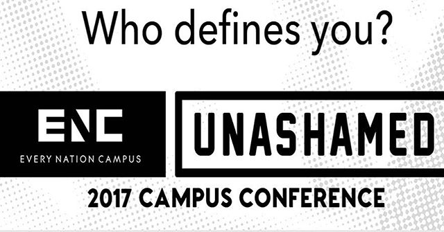 Tonight is the night, week 2 of the #ENC_Unashamed conference! This weekend we're in Nashville, TN, Midland, TX and Chantilly, VA. You can follow along with each conference on our different social media platforms: Nashville- Facebook Chantilly- Instagram stories (@enc_na) Midland- Snapchat (@enc_na) Follow us and if you're at the conferences you'll have chances to win free gear!