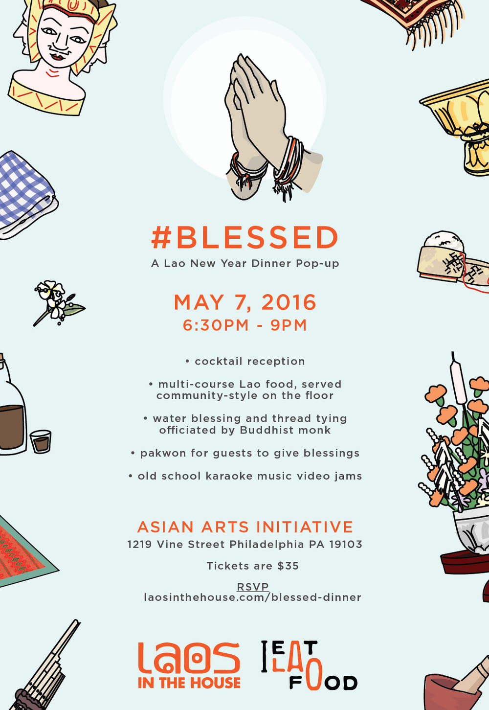 Blessed Lao New Year Dinner Pop-Up — Laos In The House