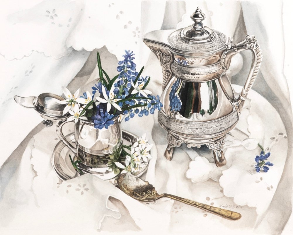 Silver, Hyacinth and Lace