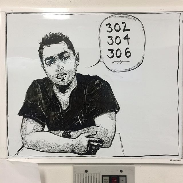 😎🚑💉 #whiteboard  #sketch  #nurse #trauma #miami
