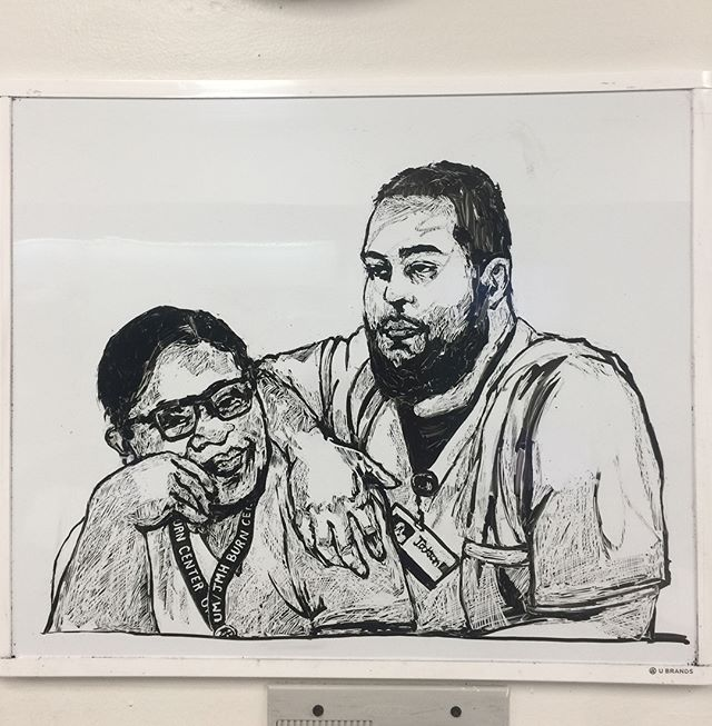 🔥💛 #whiteboard  #sketch  #miami  #trauma #nurse