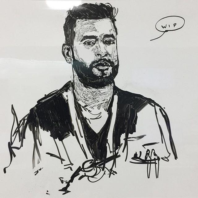 WIP of @thetraumaguy 😎🚁🚑🚨💉 #whiteboard  #sketch  #miami  #trauma