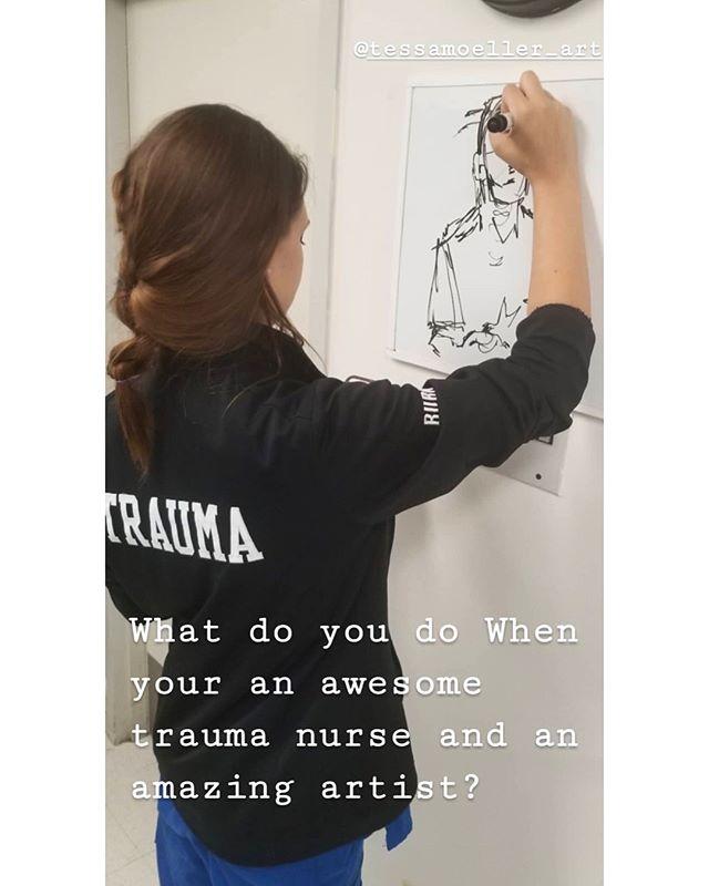 thx @thetraumaguy ! can't wait to do more 😜  #whiteboard  #sketch  #miami  #trauma