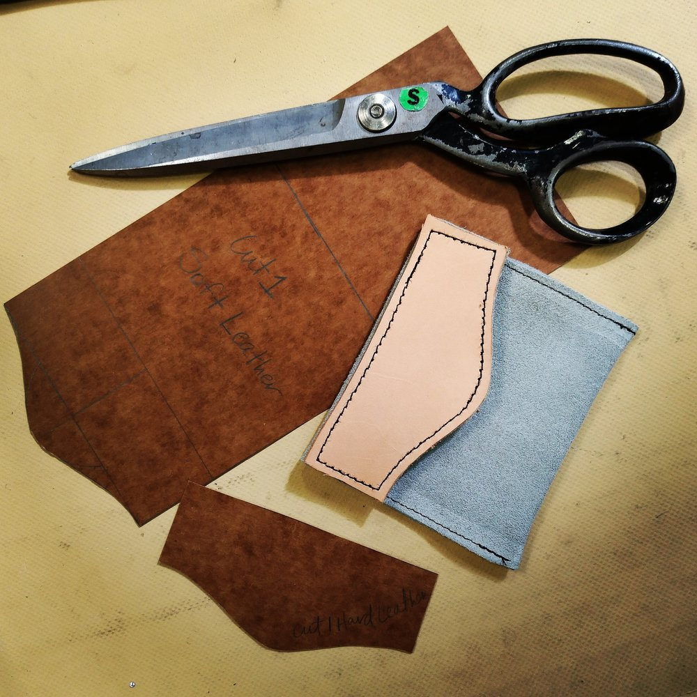 My first leather project - class in the works