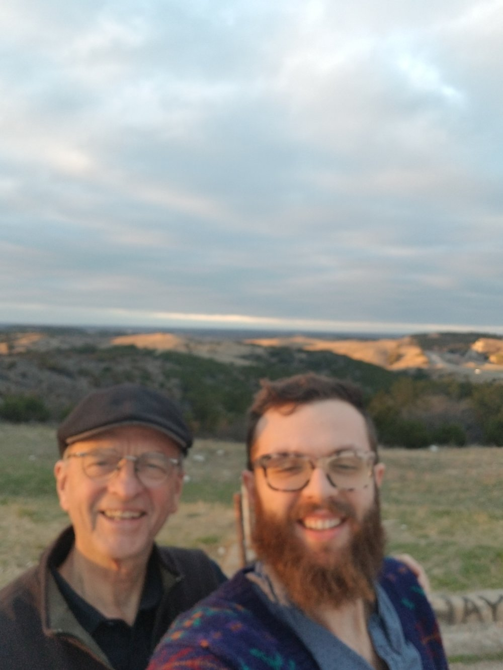 Dad and I in the Arbuckle Mountains, OK