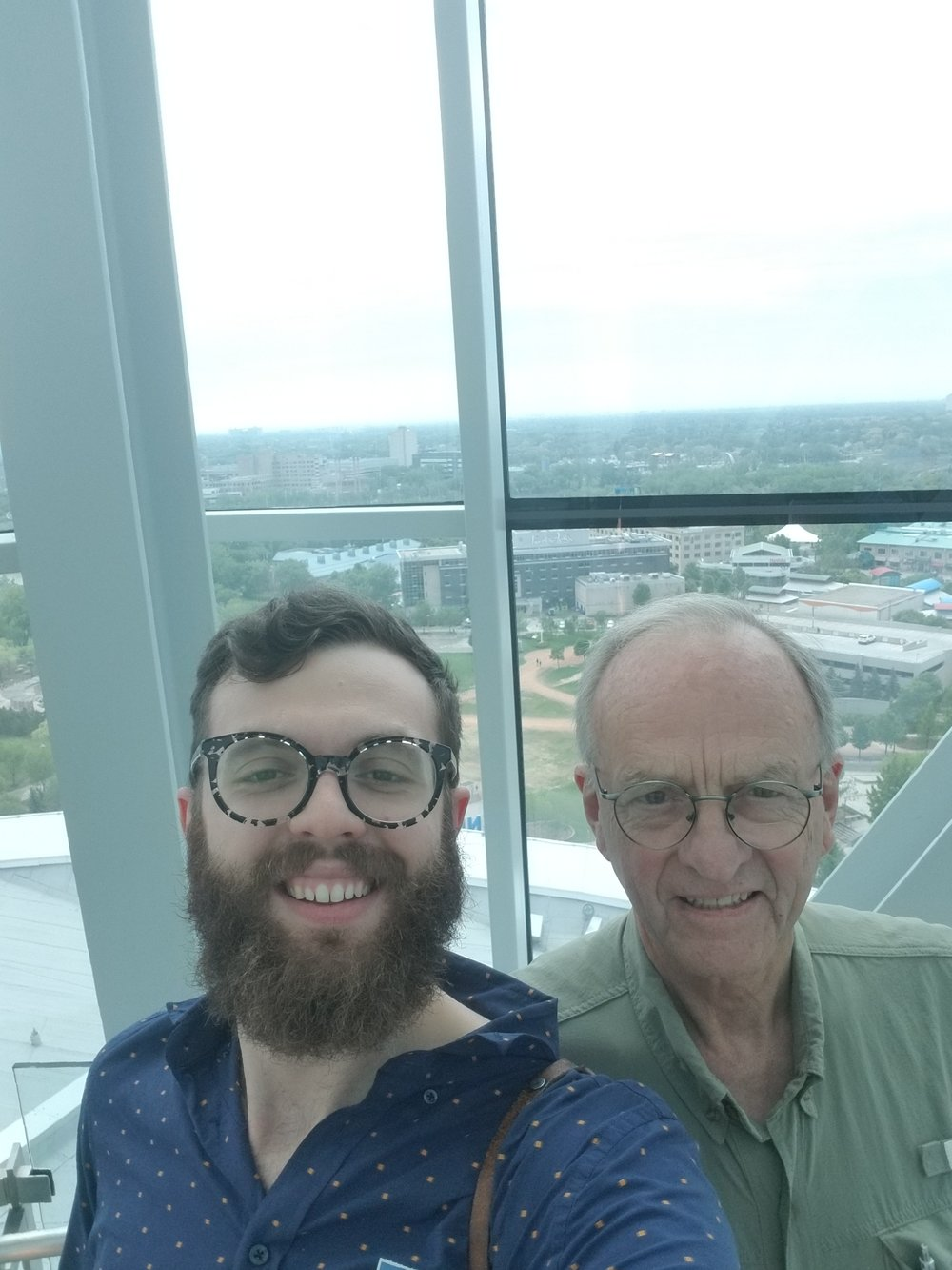 At the top of the CMHR