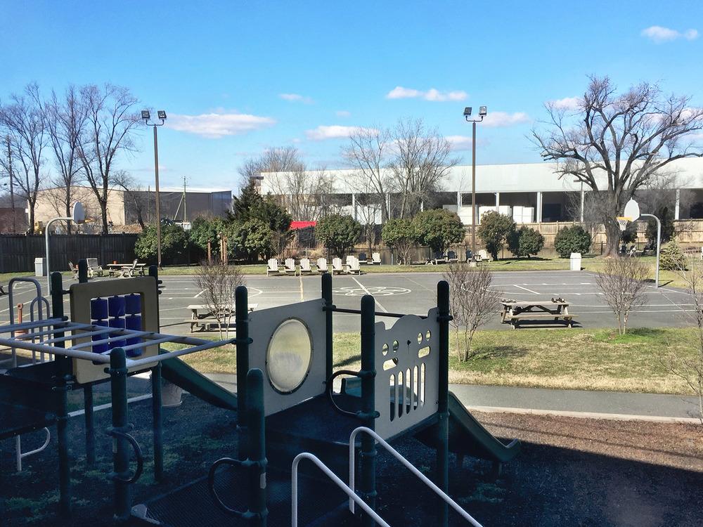 Basketball Court and Playground