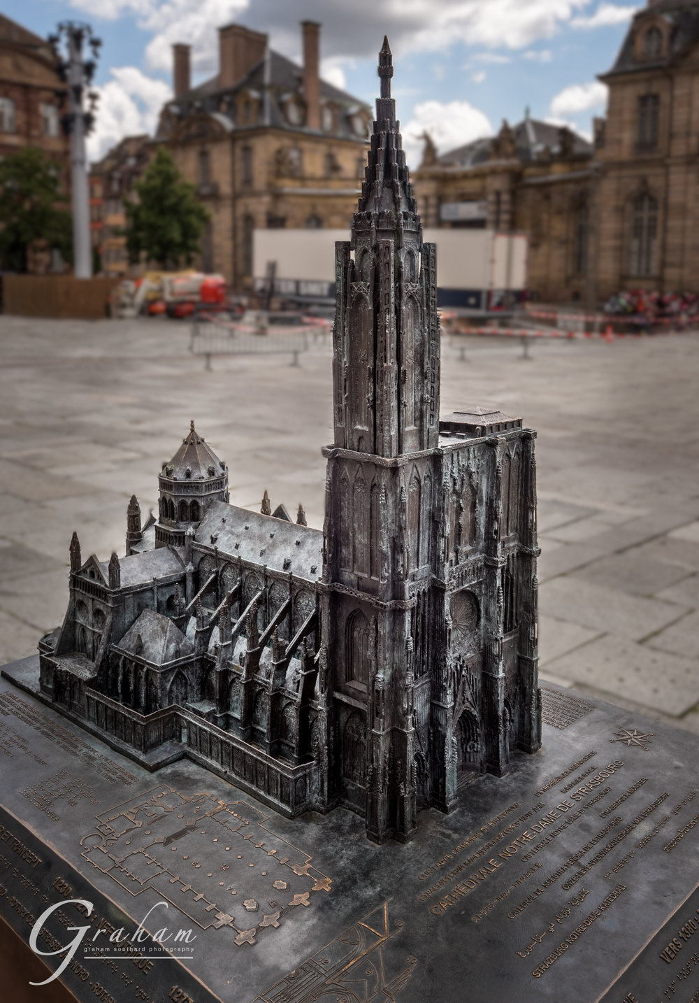 A model of the cathedral