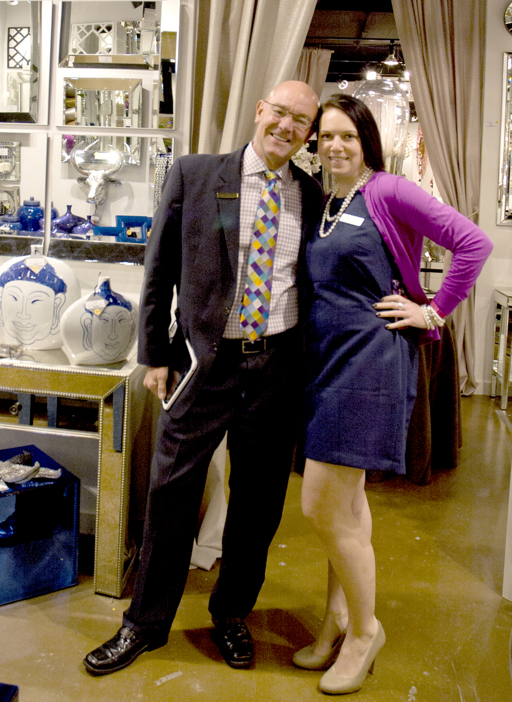 John Haynes & I in the High Point Showroom