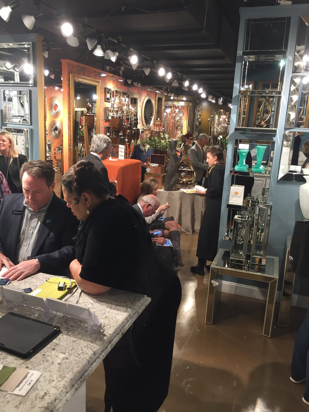 The showroom was hoppin'! Thank you to everyone that came to celebrate!