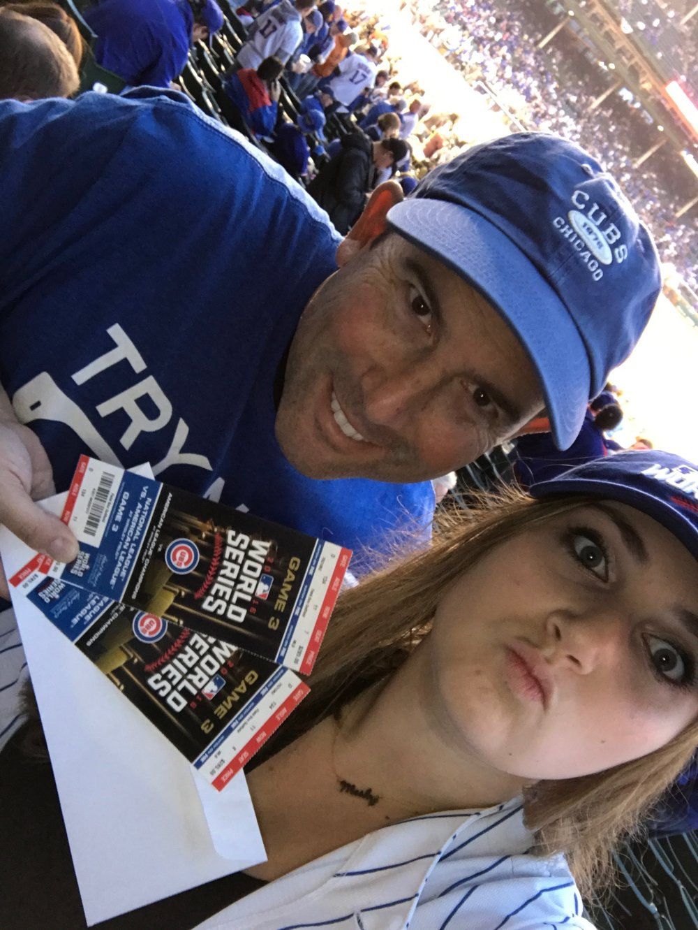 My oldest daughter & I at a World Series Game at the friendly confines