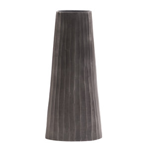 Chiseled Graphite Vase