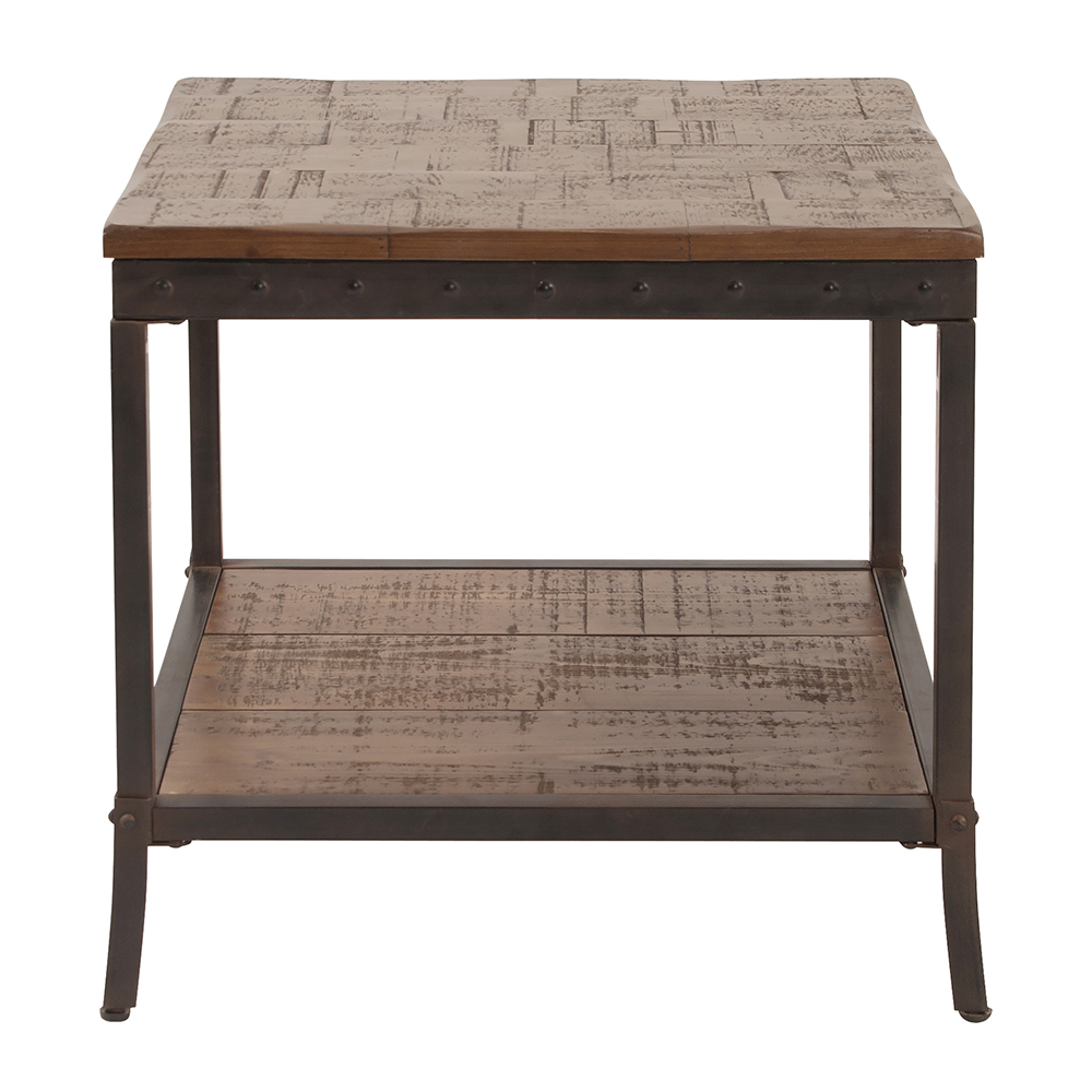 Pine Table with Iron