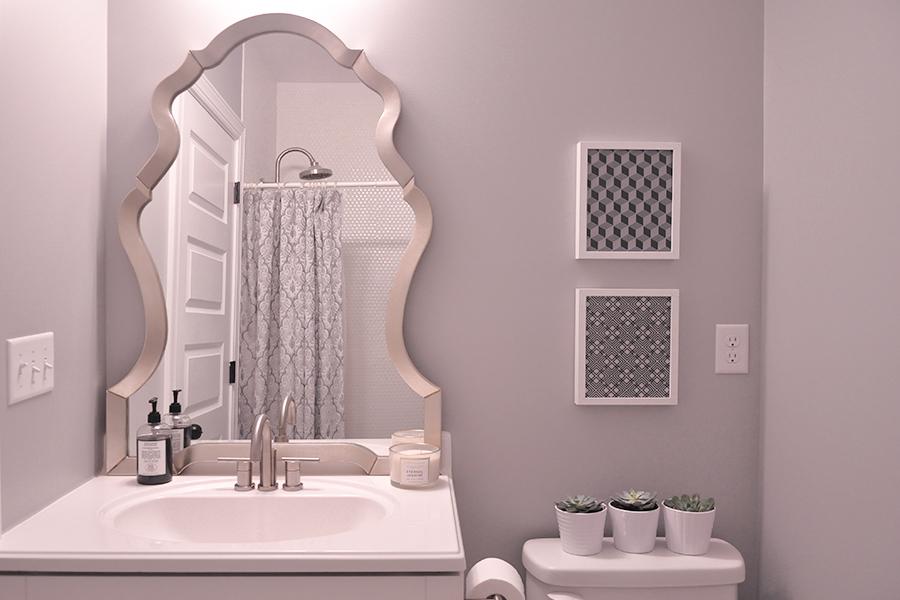 Nadia Mirror  in bathroom style by  FoxieOxie.com