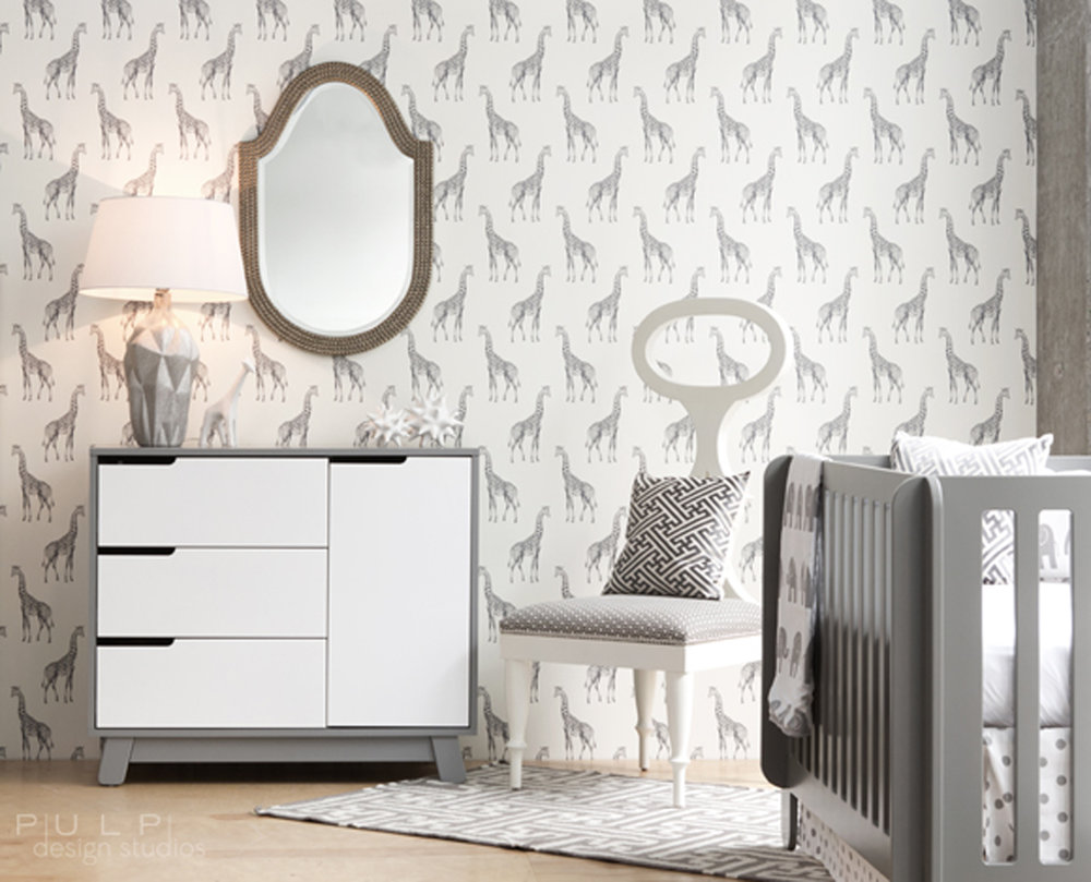 Lancelot Mirror  in Nursery design by  Pulp Design Studios
