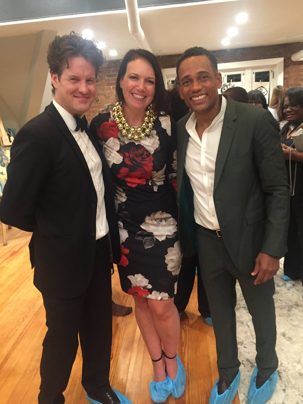 Justin & Colleen with the man of the evening, Hill Harper