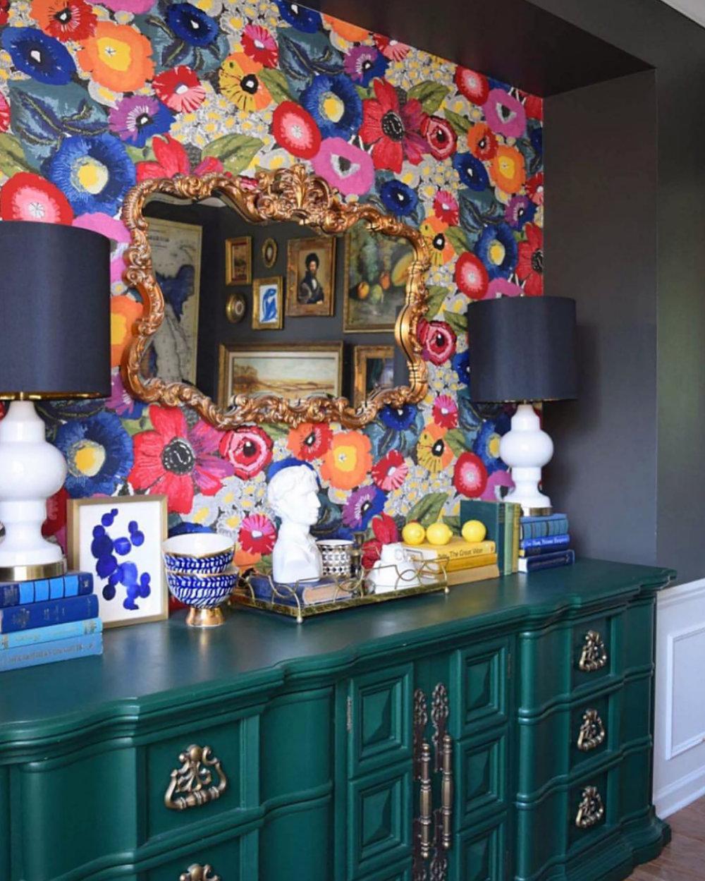 Haneen's Design using the Howard Elliott Talida Mirror  Click to view mirror online >
