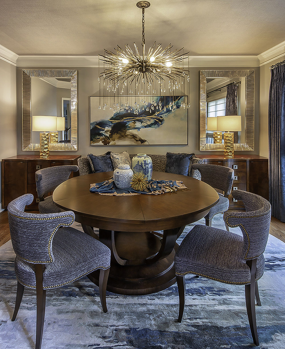 New Perspective Design's Creation using the Howard Elliott Tennessee Mirrors  Click to view mirror online >