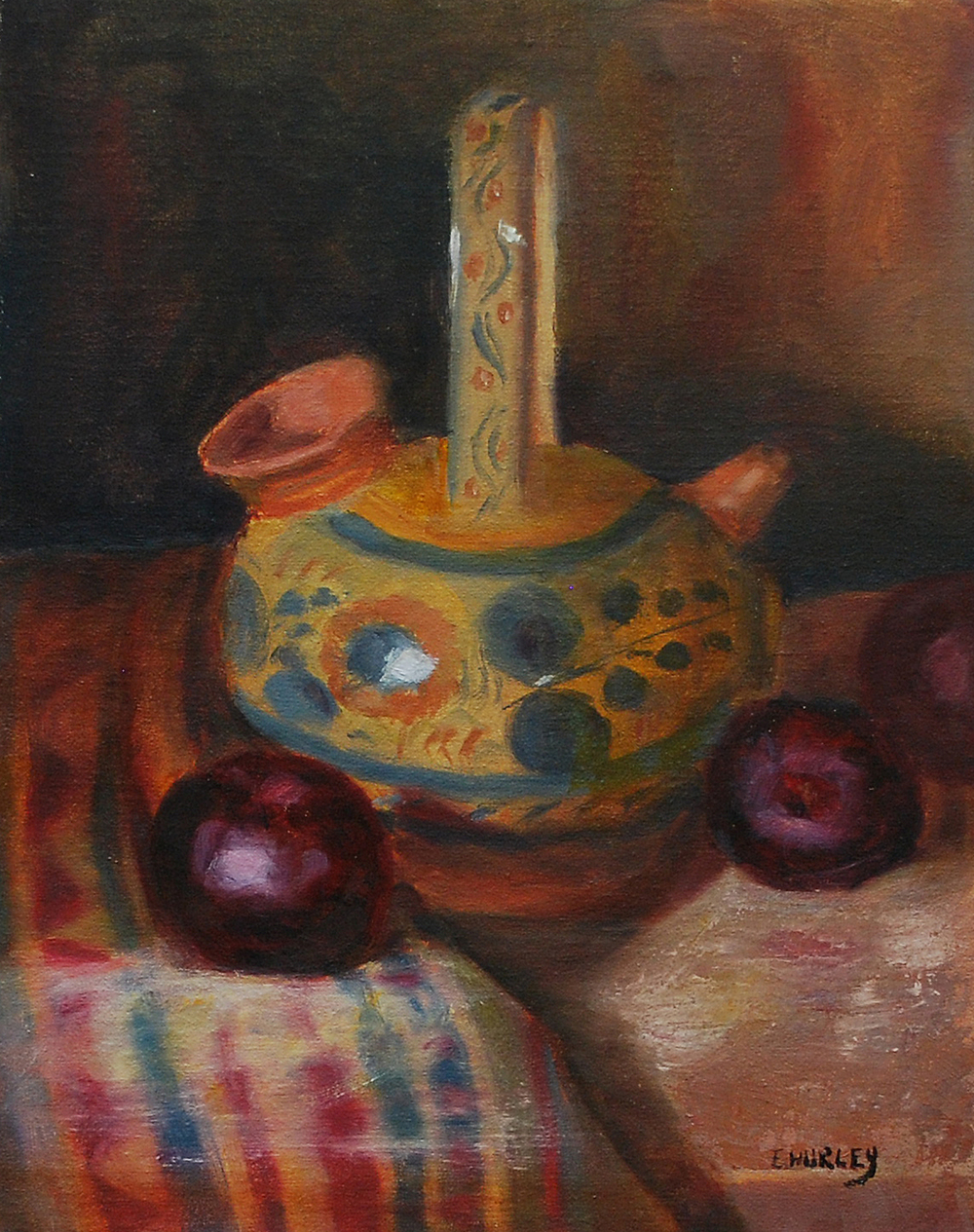 Terra Cotta Pitcher and Plums.jpg