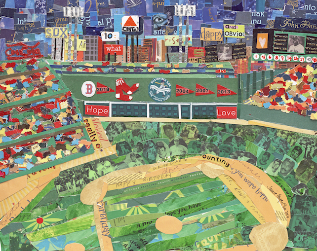 Fenway Park Collage Framed Print The Artful Heart Gallery