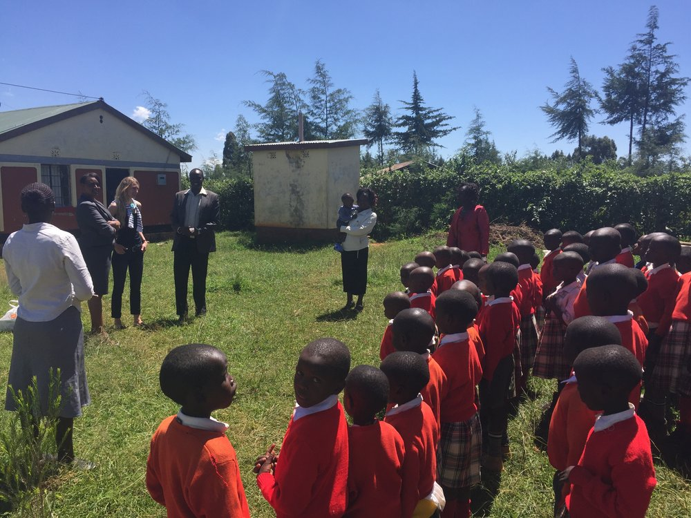 Meeting orphans at a local primary school