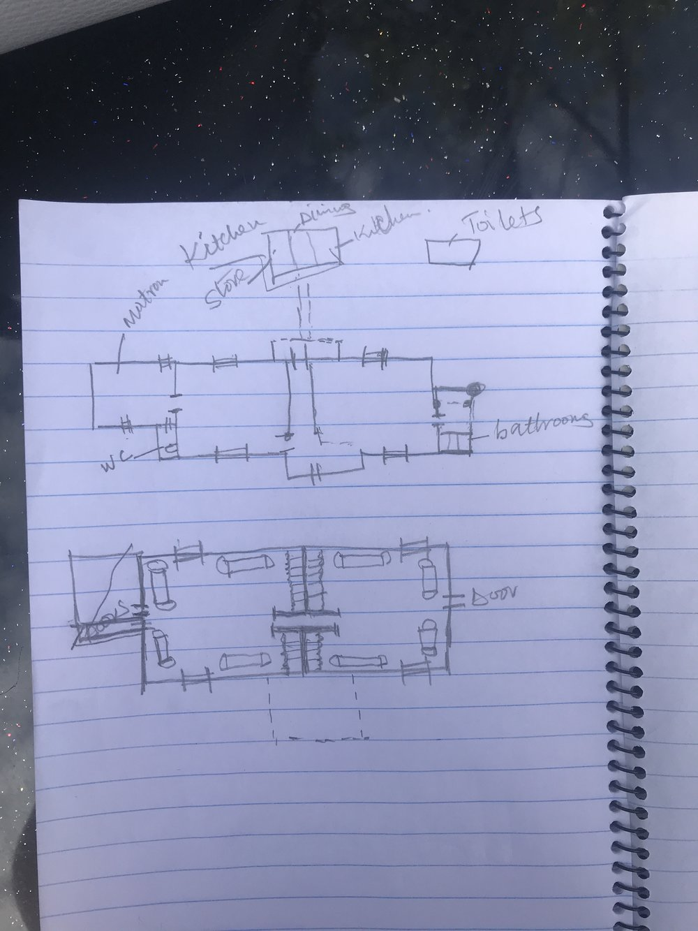 Rough draft drawings for the home