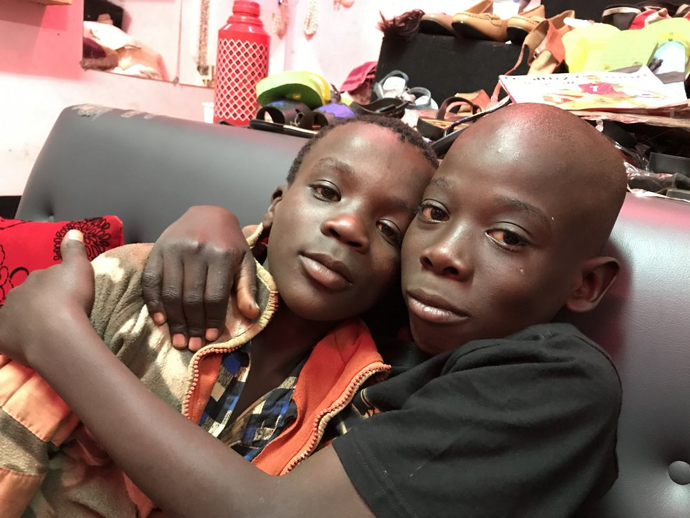 Two former street-kids who will stay at Garden of Hope.