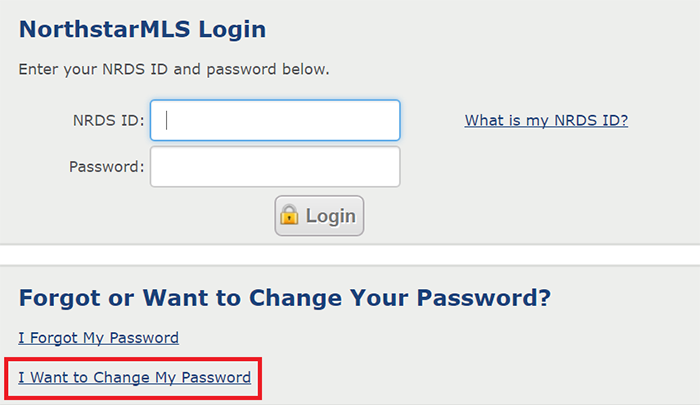 Before Logging in to Matrix - 1. From the login page, click on the I want to Change My Password link.2. Follow the instructions on changing your password.
