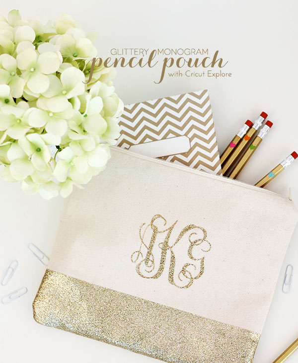 6. Here's another DIY one with instructions on their site  here.  I love the glitter on this pouch so cute! You can get very creative with this one, friends!
