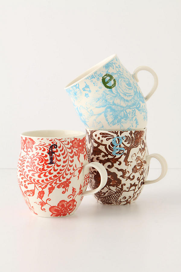 7. Can't go wrong with these amazing cups! Add them to your gift box or fill the inside with chocolates! I love the different designs and colors from  Anthropologie.