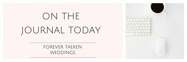 Forever Taeken Wedding Journal