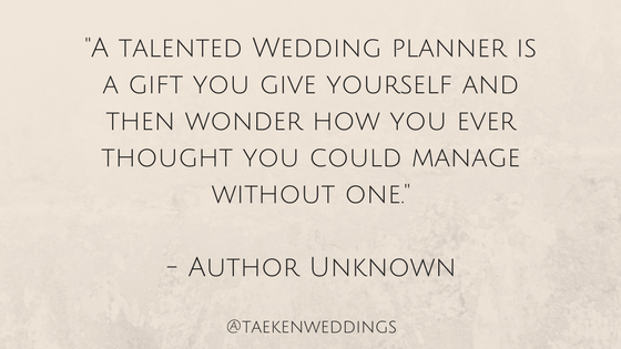 wedding planner quote