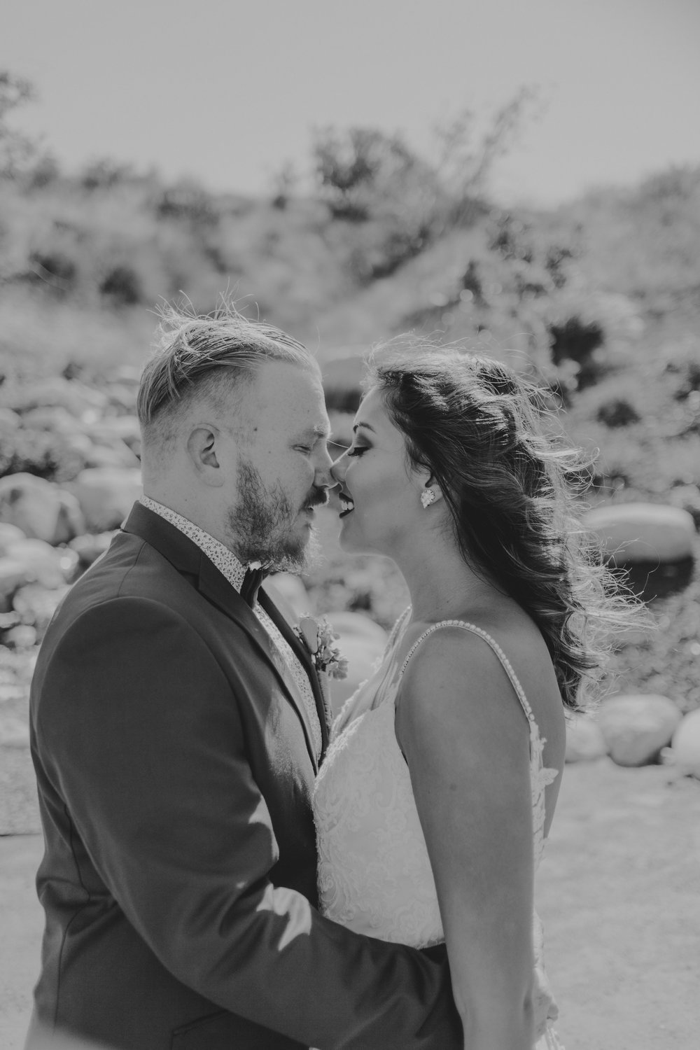 Forever Taken Desert Ranch Wedding Couple