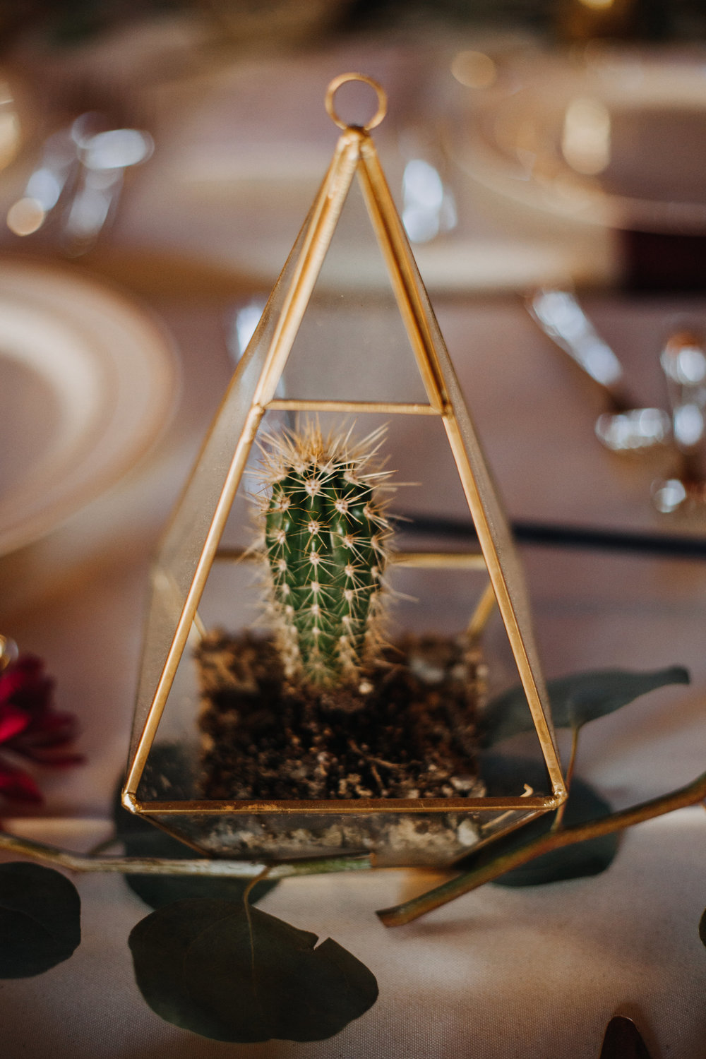 Forever Taeken Desert Wedding Centerpiece