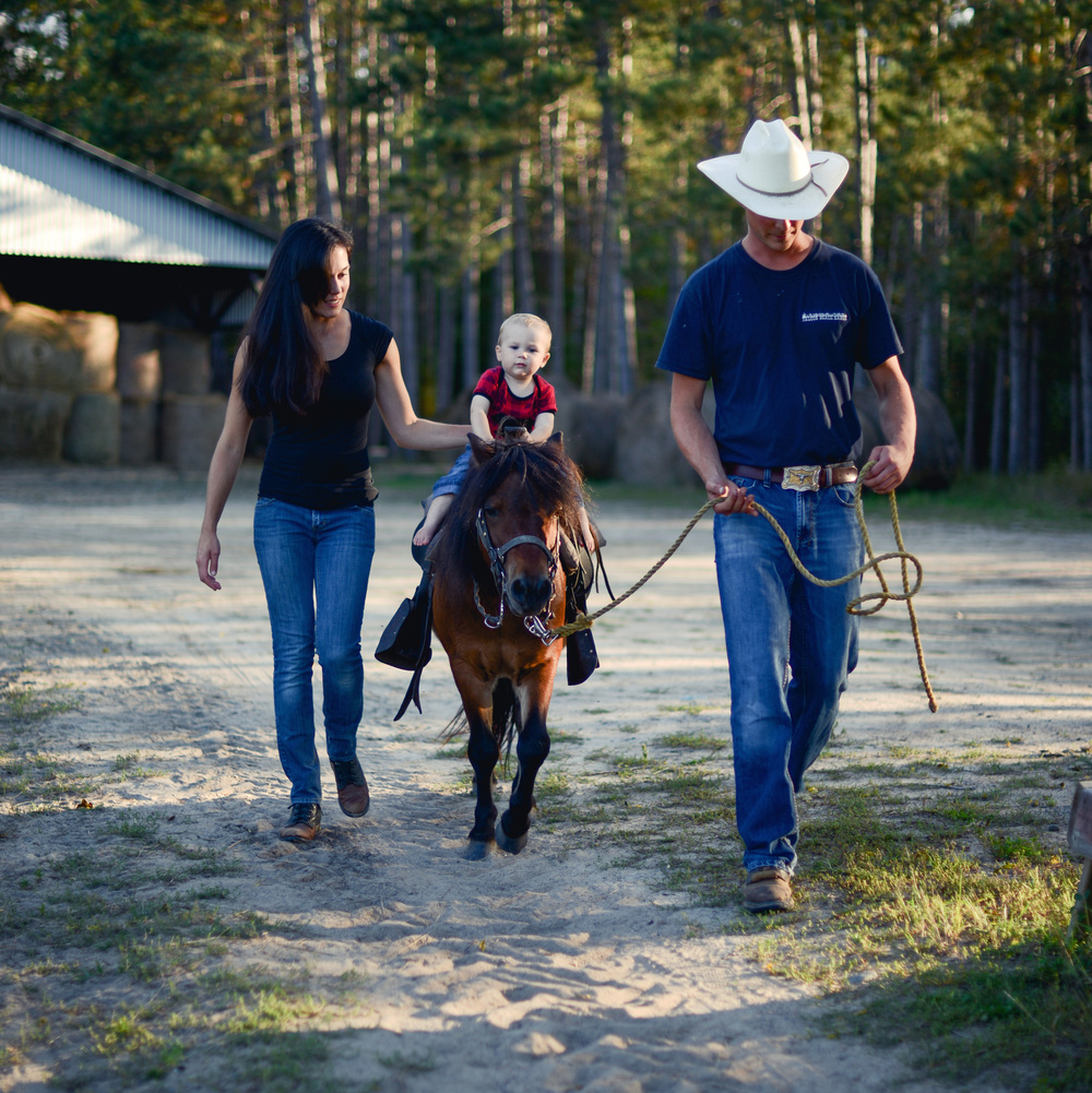 Pony Rides Lead your child around the large pond at the ranch on quiet, friendly ponies. This is a great way to introduce your child to horses, enjoy precious time together, and create memories that will last a lifetime. See rates HERE.