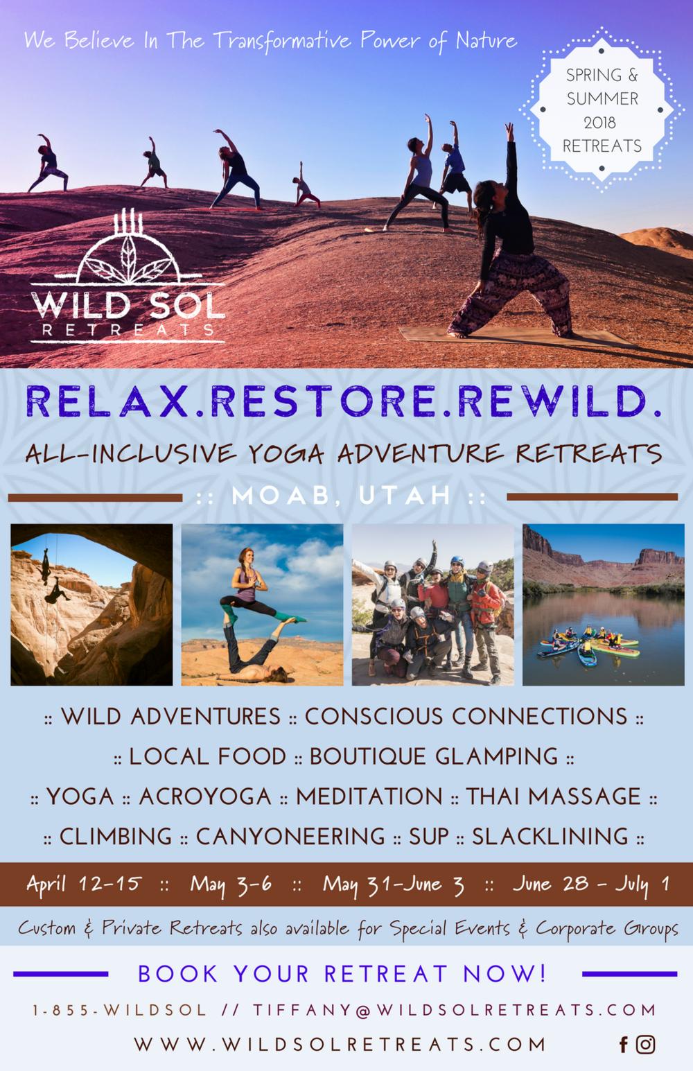 2018 Spring & Summer Retreat Flyer