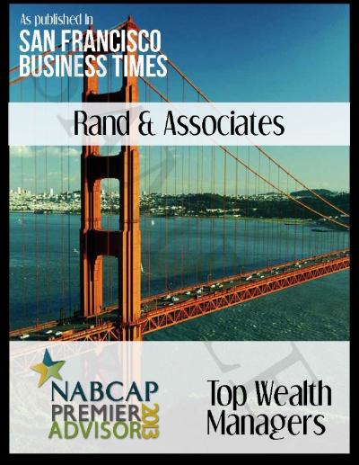 "The San Francisco Business Times Top Wealth Advisors list is compiled using a methodology which includes team structure, firm association, firm revenues, firm assets under management and evidence of discrimination by firms.(Source: The National Association of Board Certified Advisory Practices ""NABCAP"")"