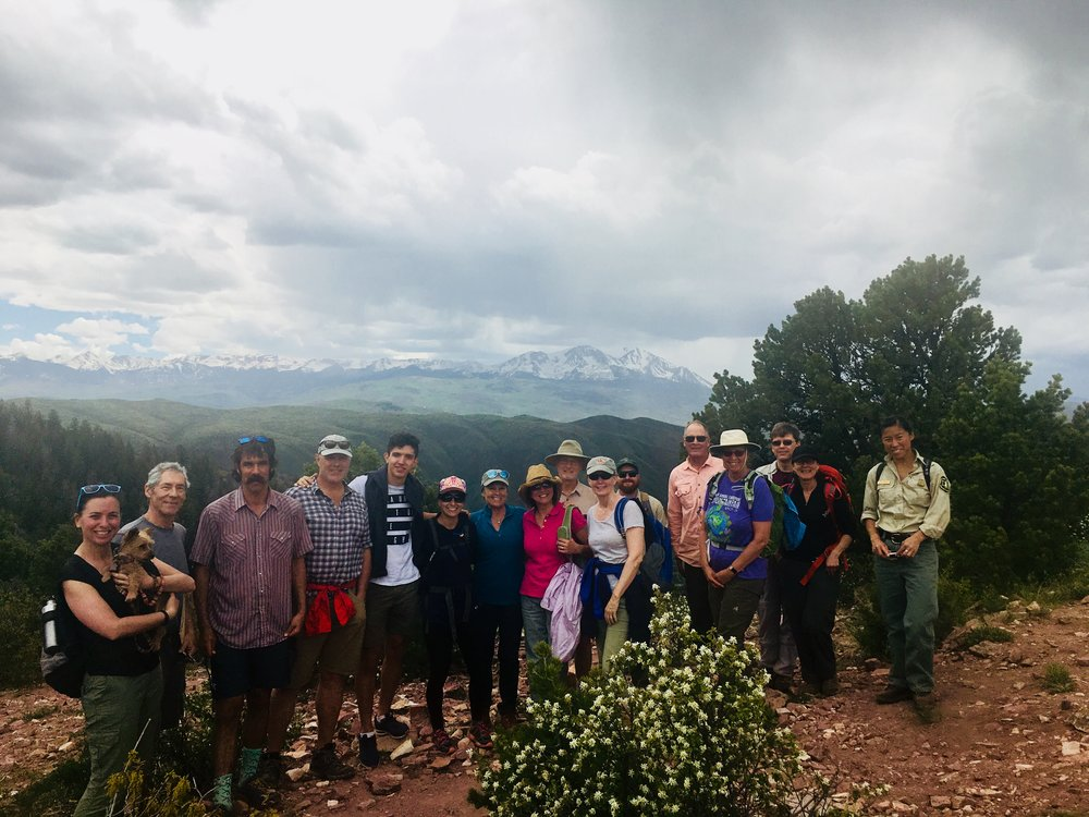 The group at the top of the hike. Happy Colorado Public Lands Day!