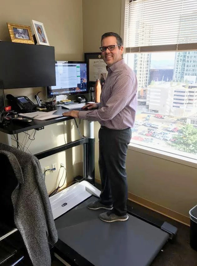 Jeff Eulberg using the WALK-1 TREADMILL DESK