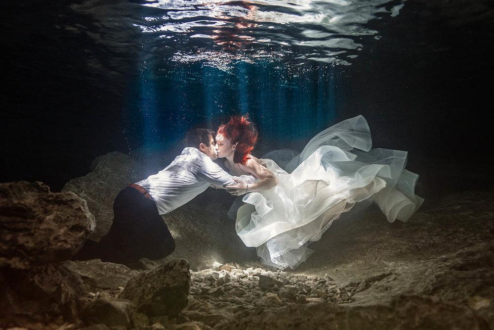 Underwater Trash the Dress Photography California