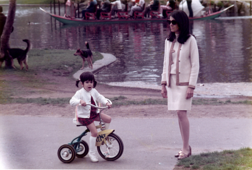 Founder Allegra Growdon Richdale and her mother, Elvira Growdon, in the Boston Public Garden, 1974.