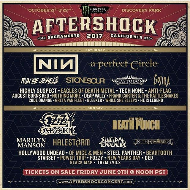 Oh man!!! Awesome lineup this year for @aftershockconcert !! #aftershock #aftershock2017 #sacramento #festival #livemusic #rockmusic