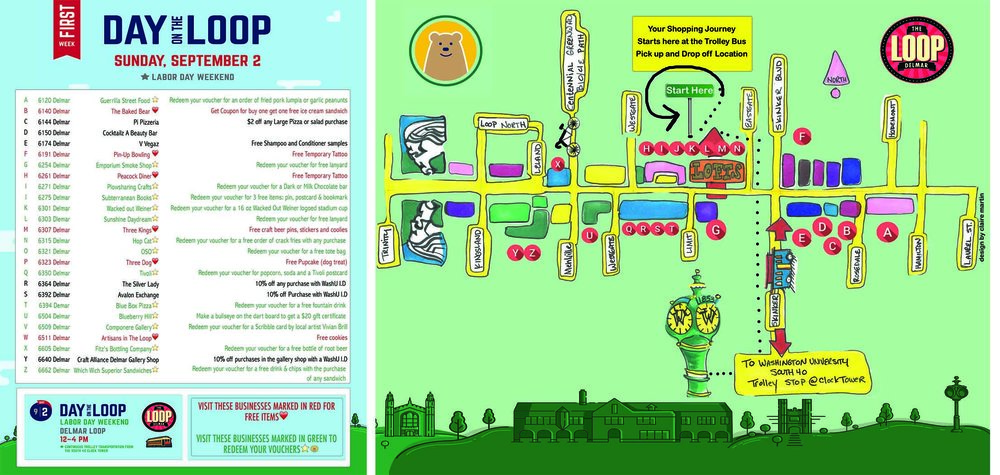 This double sided flyer was distributed at the Free Trolley stop pick up with over 500 students in attendance.